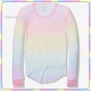 VS Pink Pastel Rainbow Cozy Sleep Tee